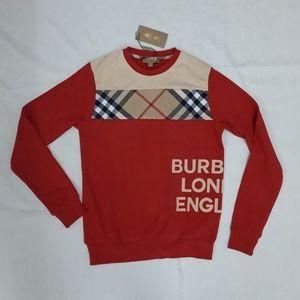 Burberry London Red New Design Men SweaterCrewneck